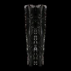 Stivali sopra il ginocchio gambale largo, tacco a cono 7,5 cm, Primadonna, 124911289EPNERO, 003 preview