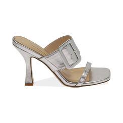 Sandali argento laminato, tacco 9 cm , Primadonna, 172183658LMARGE035, 001 preview