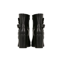 Tronchetti neri con dettagli metal, tacco 6 cm, Primadonna, 129315813EPNERO, 003 preview
