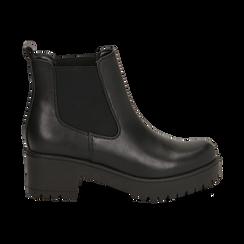 Chelsea boots neri, tacco 6 cm, Primadonna, 162808601EPNERO035, 001 preview