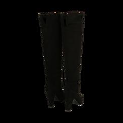 Stivali overknee neri in microfibra, tacco 9,50 cm , Primadonna, 164988612MFNERO035, 003 preview