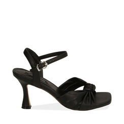 Sandali neri, tacco 8 cm , 172791815EPNERO037, 001a