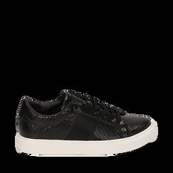Zapatillas color negro estampado víbora, Primadonna, 162619071EVNERO036, 001a
