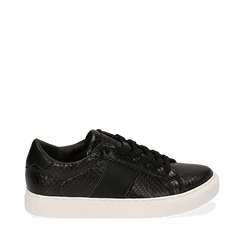 Sneakers noires imprimé vipère, Primadonna, 162619071EVNERO035, 001a