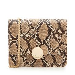 Borsa piccola beige in eco-pelle, effetto snake skin, Borse, 133308225PTBEIGUNI, 001a
