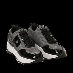 Sneakers canna di fucile glitter, suola 5,50 cm , Scarpe, 142898982GLCANN035, 002a