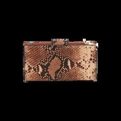 Portafogli marrone stampa pitone, Primadonna, 165122158PTMARRUNI, 004 preview