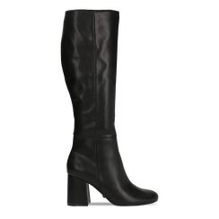 Stivali neri punta arrotondata, tacco 7,5 cm, Primadonna, 122182011EPNERO035, 001 preview
