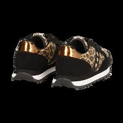 Sneakers leopard marroni in eco-cavallino , Scarpe, 142619079CVMALE, 004 preview