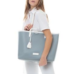 Maxi bag bianco/grigia in eco-pelle, Saldi Estivi, 133764106EPBIGRUNI, 002a