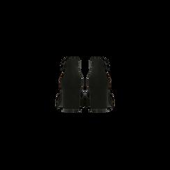 Décolleté nere con maxi cinturino, tacco 7,5 cm, Scarpe, 122166910MFNERO, 003 preview