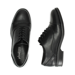 Stringate nere, tacco 4 cm, Primadonna, 160621674EPNERO037, 003 preview