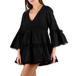 Caftan noir en tissu, Primadonna, 150500008TSNEROUNI, 001a