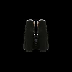 Tronchetti neri, tacco quadrato 10,5 cm, Scarpe, 122166720MFNERO, 003 preview