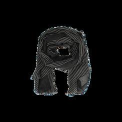 Pashmina nera in tessuto , Abbigliamento, 14B404024TSNEROUNI, 002 preview