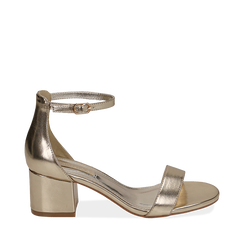 WOMEN SHOES SANDAL LAMINATED OROG, Chaussures, 152707031LMOROG035, 001a