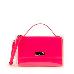 Mini bag fucsia in vernice e pvc, NUOVI ARRIVI, 155122209VEFUCSUNI, 001a