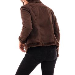 Giacca marrone in microfibra, Abbigliamento, 146500413MFMARR3XL, 002a