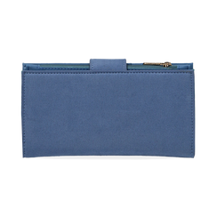Portafogli azzurro in microfibra, Borse, 155122158MFAZZUUNI, 004 preview