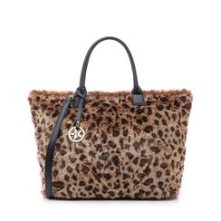 Borsa leopard in eco-fur, Primadonna, 141918831FULEMAUNI, 001a