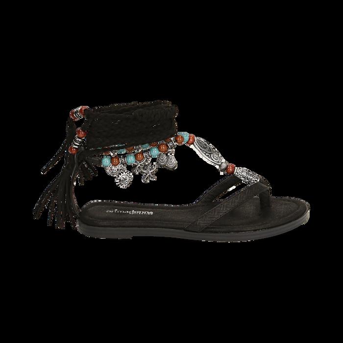 Sandali infradito lace-up neri, Scarpe, 153683578EPNERO