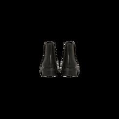 Chelsea Boots neri con tacco basso, Scarpe, 120618208EPNERO, 003 preview