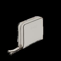 Portafoglio compatto bianco in eco-pelle, Borse, 133731344EPBIANUNI, 002a