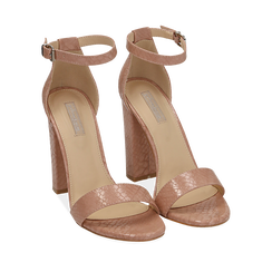 WOMEN SHOES SANDAL EP-PYTHON NUDE, Chaussures, 152706086PTNUDE036, 002a