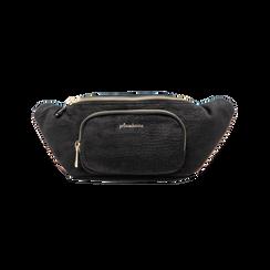Marsupio nero in velluto, Saldi Borse, 125921084VLNEROUNI, 001 preview