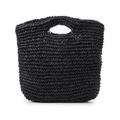 Borsa grande mare nera in paglia intrecciata, Primadonna, 134510176PGNEROUNI, 003 preview