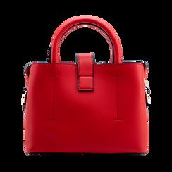 Mini bag rossa in ecopelle con tracolla a bandoliera, Saldi Borse, 122429139EPROSSUNI, 002 preview