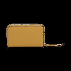 Portafoglio compatto giallo in eco-pelle, Borse, 133731344EPGIALUNI, 004 preview