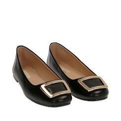 Ballerines noires avec boucle, Chaussures, 174969811EPNERO035, 002a