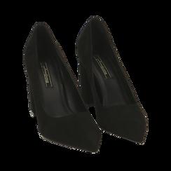 Décolleté nere in microfibra, tacco 9 cm , Promozioni, 162183311MFNERO037, 002 preview