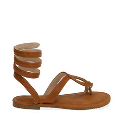 Sandalias de dedo coñac, 174921381EPCOGN035, 001a