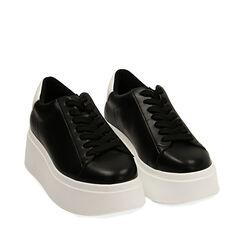 Sneakers nere, platform 6,5 cm, Primadonna, 177505101EPNERO035, 002a