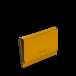 Portafoglio giallo in eco-pelle con laccetto per il polso, Borse, 133723651EPGIALUNI, 002a