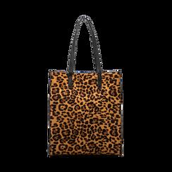 Borsa shopper leopard in microfibra, Borse, 122900004MFLEOPUNI, 002 preview