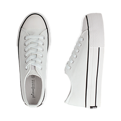 Sneakers bianche in canvas, Primadonna, 152619385CABIAN039, 003 preview