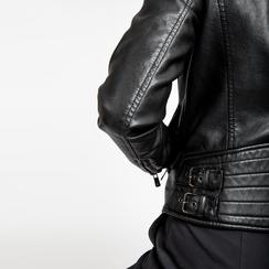 Chiodo nero ecopelle, Abbigliamento, 126500721EPNERO, 005 preview