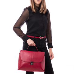 Borsa rossa in eco-pelle , Borse, 14D984150EPROSSUNI, 002 preview