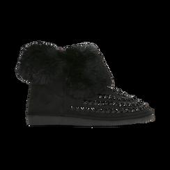 Scarponcini invernali neri con risvolto in eco-fur, Primadonna, 125001328MFNERO, 001 preview