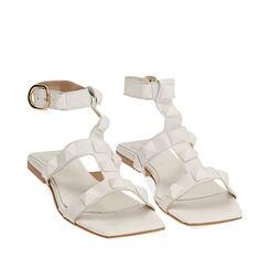 Sandalias blanco de cuero, Primadonna, 17L602302PEBIAN036, 002a