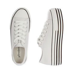 Sneakers bianche in canvas, Primadonna, 172642102CABIAN036, 003 preview