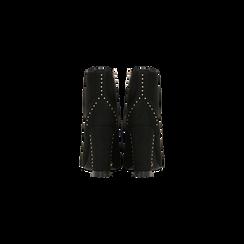 Tronchetti neri con mini-borchie e stringhe, tacco 9 cm, Primadonna, 120381111MFNERO, 003 preview