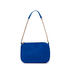 Petit sac porté épaule bleu cobalt en microfibre, Primadonna, 155127201MFBLCOUNI, 001a