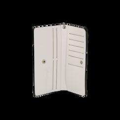 Portafoglio bianco in eco-pelle con laccetto per il polso, Borse, 133723651EPBIANUNI, 003 preview