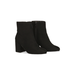Tronchetti neri scamosciati, tacco medio 5 cm, Scarpe, 122762715MFNERO, 002 preview