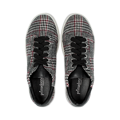 Sneakers Tweed con tacco basso, Primadonna, 122915602TSNEGR036, 004 preview