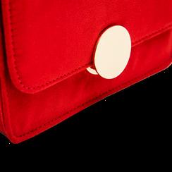 Tracolla rossa in microfibra scamosciata con chiusura gold, Borse, 123308225MFROSSUNI, 004 preview